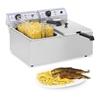 Profesjonalna podwójna frytownica do frytek ryb 6000W 2 x 17L Royal Catering RCEF 15D