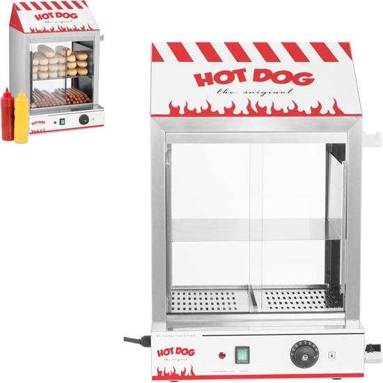 Podgrzewacz witryna grzewcza do 200 hot dogów parówek 50 bułek 2000W Royal Catering RCHW 2000