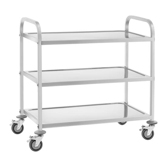 Wózek kelnerski 3-półkowy do 150 kg Stal nierdzewna RCSW-6.2
