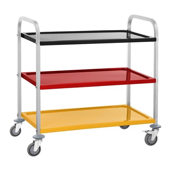 Wózek kelnerski 3-półkowy 3 kolorowe półki do 150kg