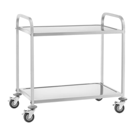 Wózek kelnerski cateringowy 2-półkowy do 160 kg Stal nierdzewna