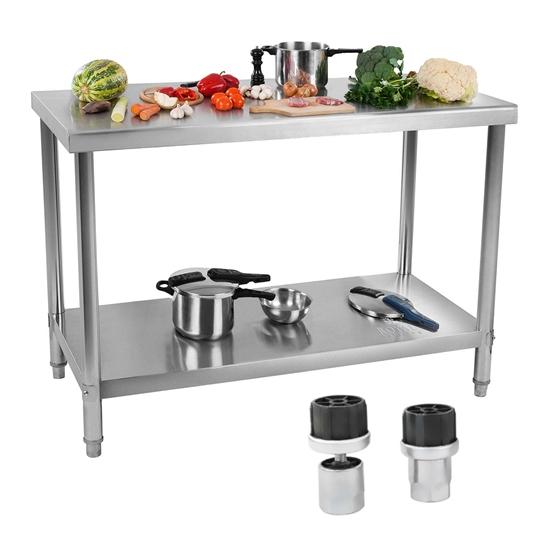 Stół blat roboczy gastronomiczny stalowy nierdzewny z półką 100x70cm