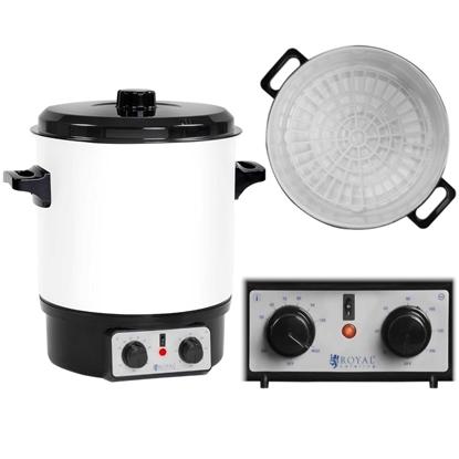Podgrzewacz warnik do zup gulaszu z funkcją pasteryzacji słoików + Timer 1800W 27L