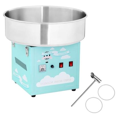 Maszyna do waty cukrowej turkusowa śr. misy 520mm + miarka do cukru
