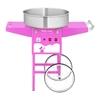 Mobilna maszyna do waty cukrowej różowa śr. misy 520mm + miarka do cukru