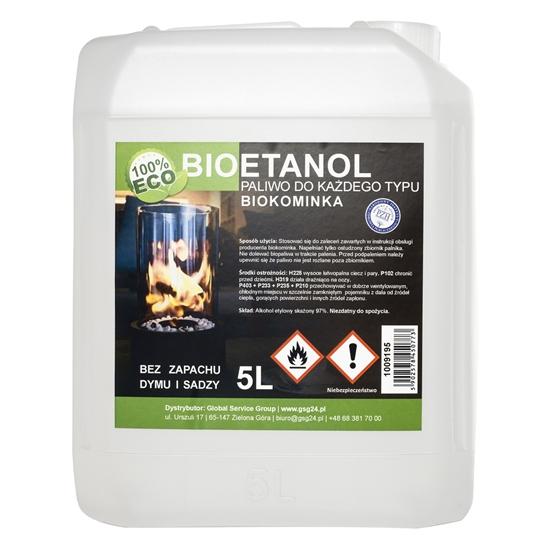 Bioalkohol bioetanol BIO paliwo do biokominka 5L