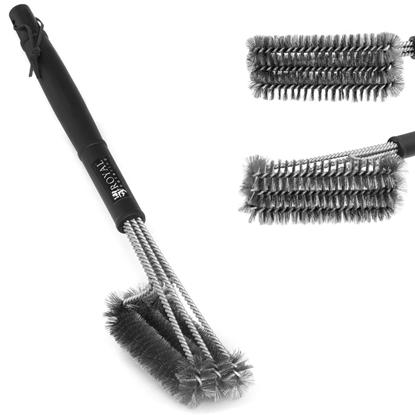 Szczotka druciana do czyszczenia grilla potrójna 9 cm RCCB-1