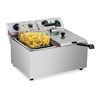 Frytownica podwójna gastronomiczna elektryczna 230 V 2 x 3200W 2 x 8 L