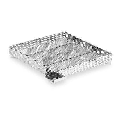 Wkład do wędzarni na wiórki zrębki drewna prostokątny nierdzewny 27.2x26.5x4.3cm