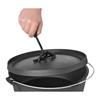 Kociołek garnek żeliwny myśliwski na ognisko grill kuchenkę śr. 31cm 6L + STOJAK