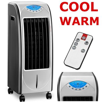 Klimatyzer klimator ewaporacyjny do domu i biura z nawilżaczem powietrza oraz nagrzewnicą 78 W - 4w1