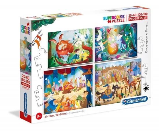 Puzzle 20+60+100+180 elementów Super Kolor - Pewnego razu (GXP-683620)