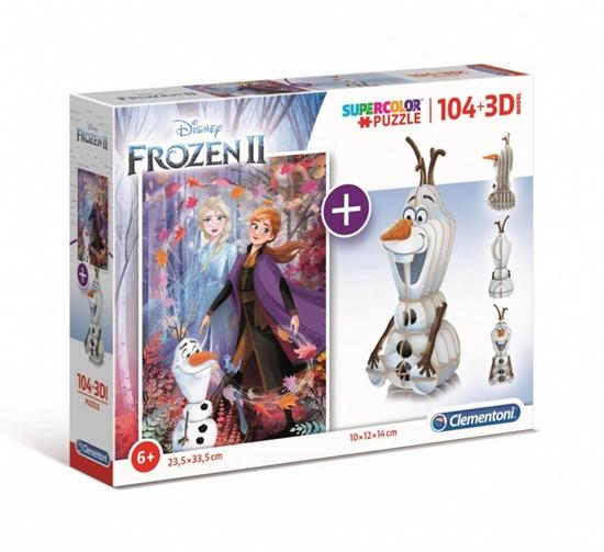 Puzzle 104 elementy +3D Model Frozen 2 (GXP-726103)