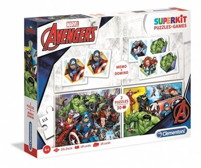 Zestaw Superkit 2x30 elementów + Memo + Domino The Avengers (GXP-702051)