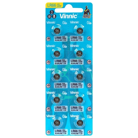 10 x bateria alkaliczna mini Vinnic G4 / AG4 / L626 / SR626 / 377 / LR66 / LR626