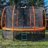 Trampolina Ogrodowa 374cm/12ft Pomarańczowa Maxy Comfort PLUS Z Wewnętrzną siatką