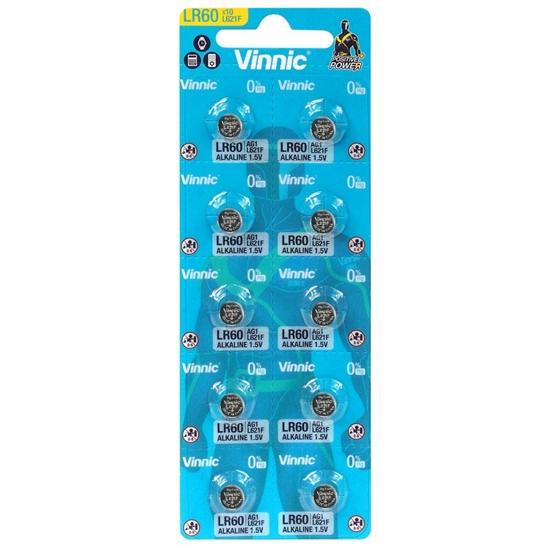 10 x bateria alkaliczna mini Vinnic G1 / AG1 / L621 / LR60