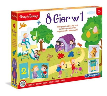Clementoni 8 Gier w 1 Uczę sie Bawiąc 50089 p6, cena za 1szt. (50089 CLEMENTONI)