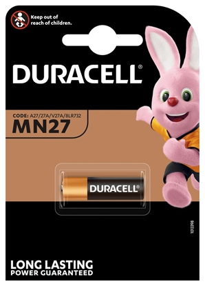 1 x bateria do pilota samochodowego Duracell 27A MN27