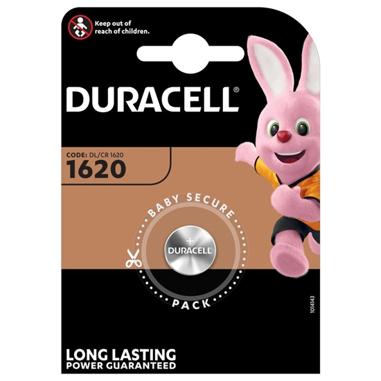 bateria litowa mini Duracell CR1620, DL1620, ECR1620