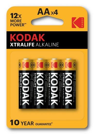 4 x KODAK Xtralife Alkaline LR6/AA (blister)