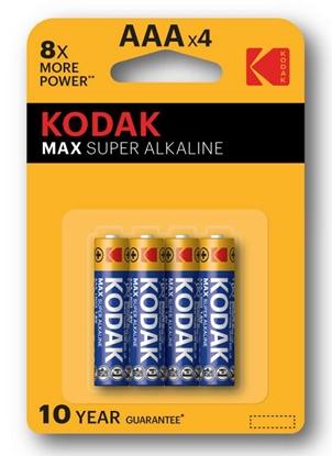 4 x KODAK Max Alkaline LR03/AAA (blister)