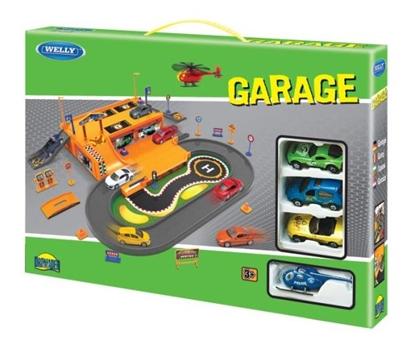 Welly Garaż z torem, 4 pojazdy 1:60 (130-00872)