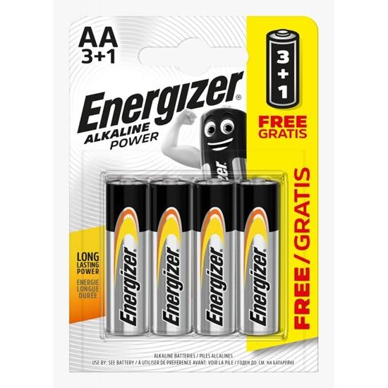 4 x bateria alkaliczna Energizer Alkaline Power LR6/AA 3+1BL (blister)