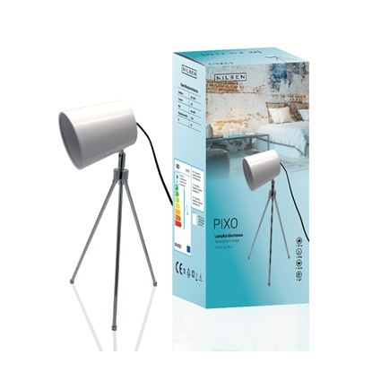 Lampka biurkowa E27 PIXO biała wycofana
