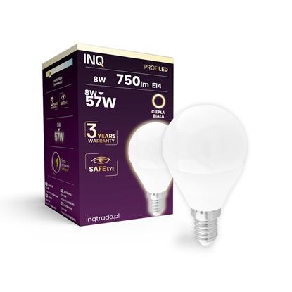 LAMPA  G45 E14 LED PROFI 8 KULKA 750lm 3000K INQ