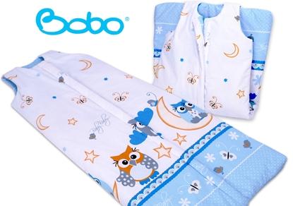 Śpiworek dla dziecka od 2 do 5 lat Trzy niebieskie sowy