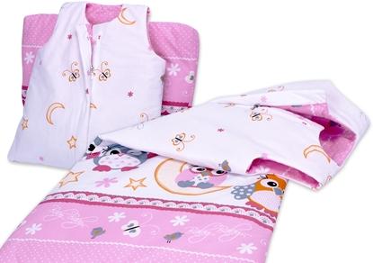 Śpiworek dla dziecka od 2 do 5 lat Trzy różowe sowy