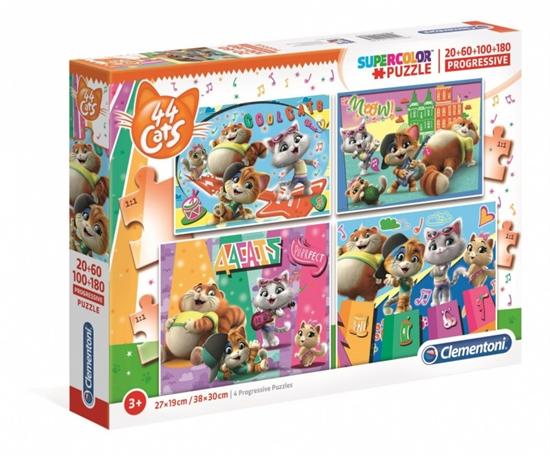 Puzzle 20+60+100+180 elementów 44 koty (GXP-702059)