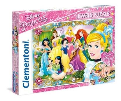 104 elementy Księżniczki Disneya, puzzle z ozdobami (GXP-636622)