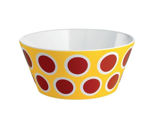 ALESSI - miska z porcelany - kolorowy wzór