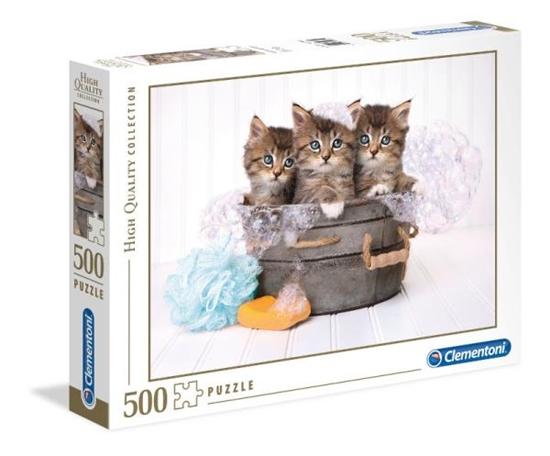 Clementoni Puzzle 500el HQ Kociaki w kąpieli 35065 p6 (35065 CLEMENTONI)
