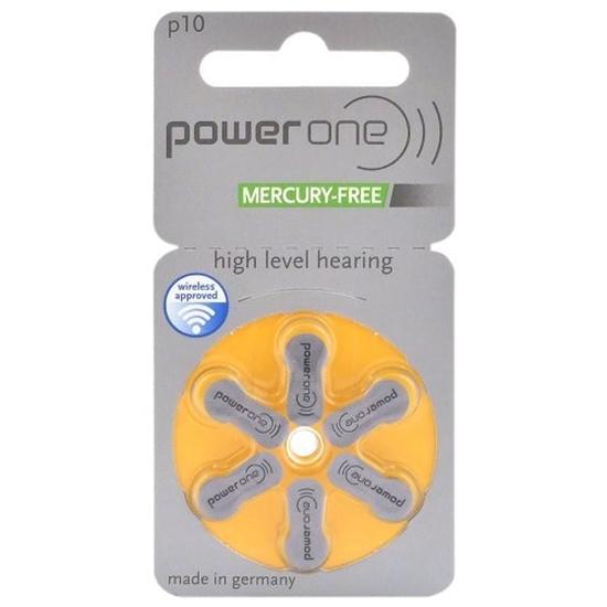 6 x baterie do aparatów słuchowych Power One Varta 10