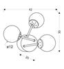 Kinkiet ścienny potrójny chromowy szklane klosze Best Candellux 23-67258