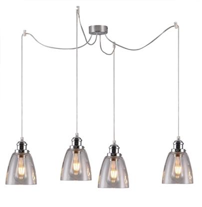 Lampa wisząca chromowa szklane klosze 4x40W Voice Candellux 34-70838