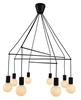 LAMPA SUFITOWA WISZĄCA CANDELLUX ALTO 38-70951  E27 CZARNY MATOWY