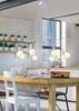 Lampa wisząca sufitowa biała matowa oprawa 8x40W Basso Candellux 38-71040
