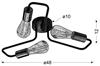 Lampa sufitowa czarna metalowa oprawka 3x60W Herpe Candellux 33-66916