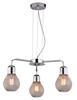 Lampa wisząca chrom druciany klosz 3x60W regulacja Gliva Candellux 33-58539