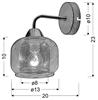 Kinkiet ścienny chromowy lustrzany z siateczką Ray Candellux 21-67067