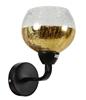 Kinkiet lustrzany czarno złoty klosz bite szkło Cromina Gold Candellux 21-57242