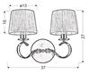 Kinkiet chromowy podwójny bały abażur z tkaniny Clara Candellux 22-21564