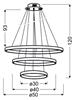 Lampa wisząca LED okrągła potrójna chrom 60W 4000K Lune Candellux 33-64738