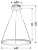 Lampa biała LED ring wisząca okrągła 25W 4000K Lune Candellux 31-64608