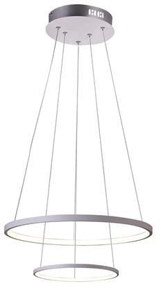 Lampa biała LED wisząca okrągła podwójna 40W 4000K Lune Candellux 32-64752