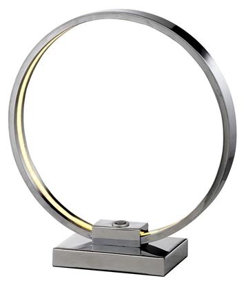 Lampka stołowa nocna chrom LED okrągła gabinetowa Circle 41-25210